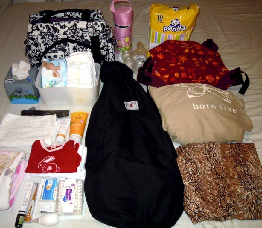 Asa arata <b>bagajul bebelui pentru o iesire</b> de weekend