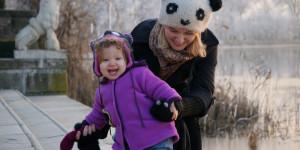 Mogosoaia – bebe calator descopera iarna la palat