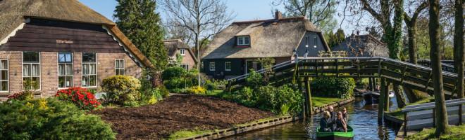 De la Dwarsgracht la Giethoorn, Olanda (sau cum a fost prima plimbare cu bicicleta in trei)