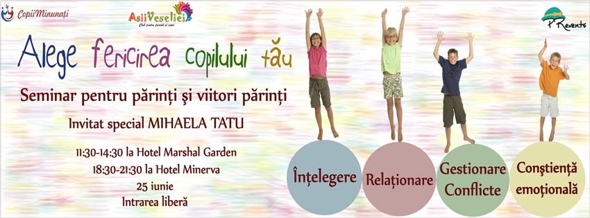Alege <b>fericirea copilului tau</b> – seminar gratuit de comunicare cu cei mici