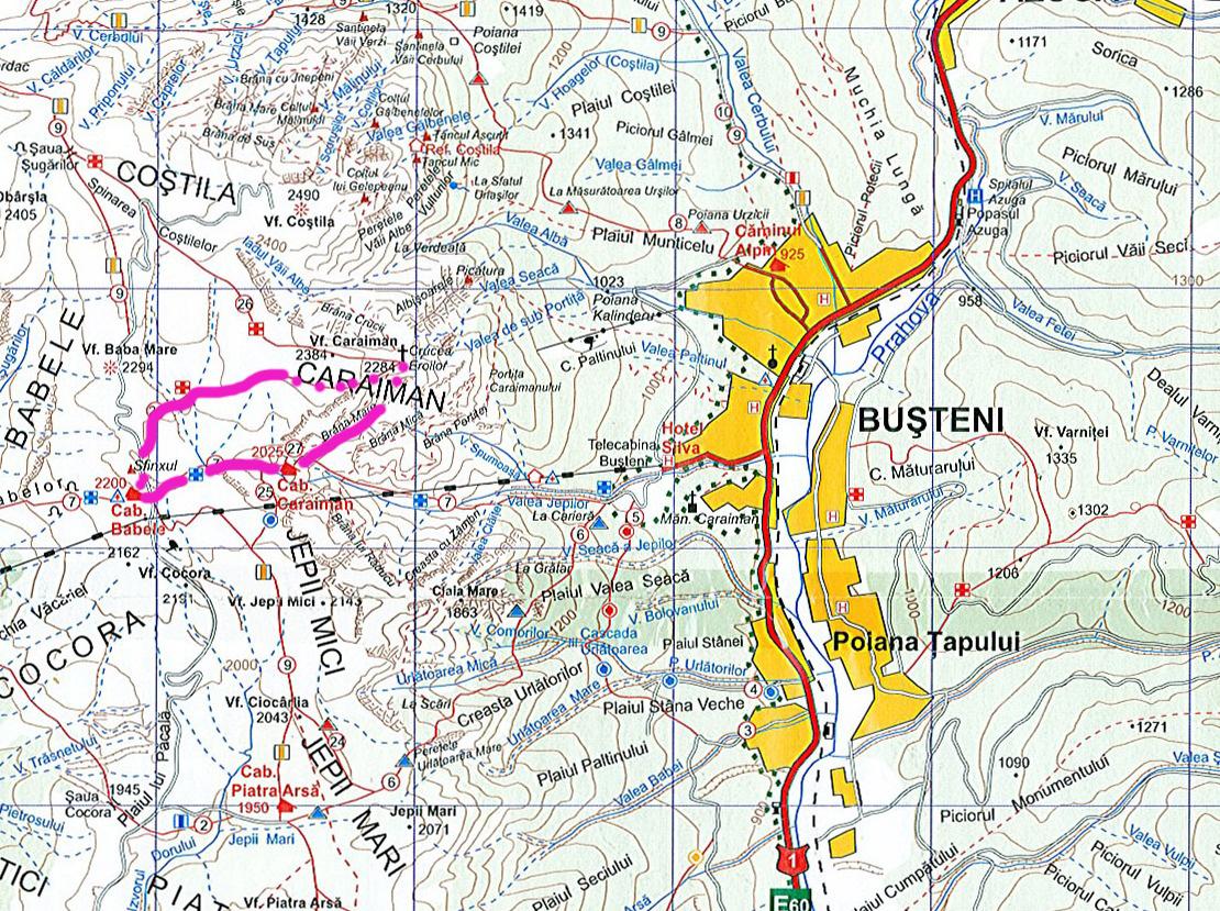 2. harta bucegi brana caraimanului