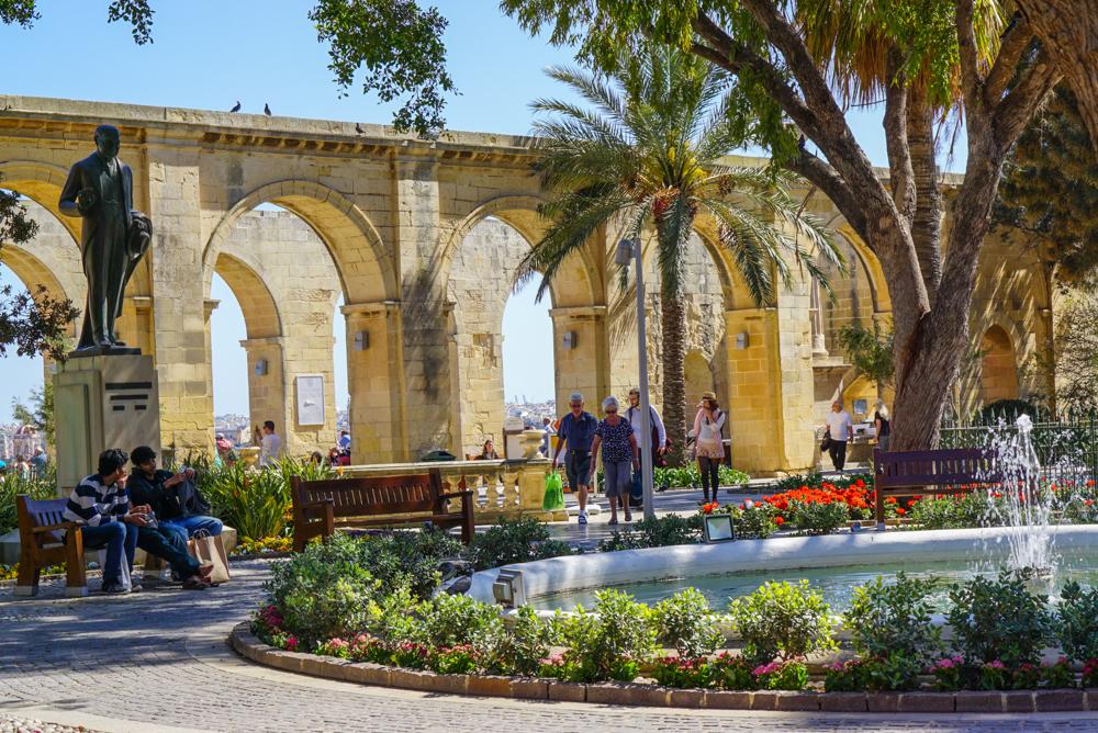 impresii malta Barrakka Gardens 2