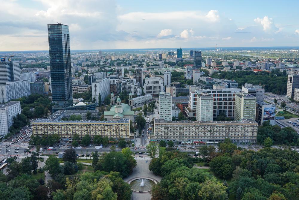 panorama palatul culturii varsovia